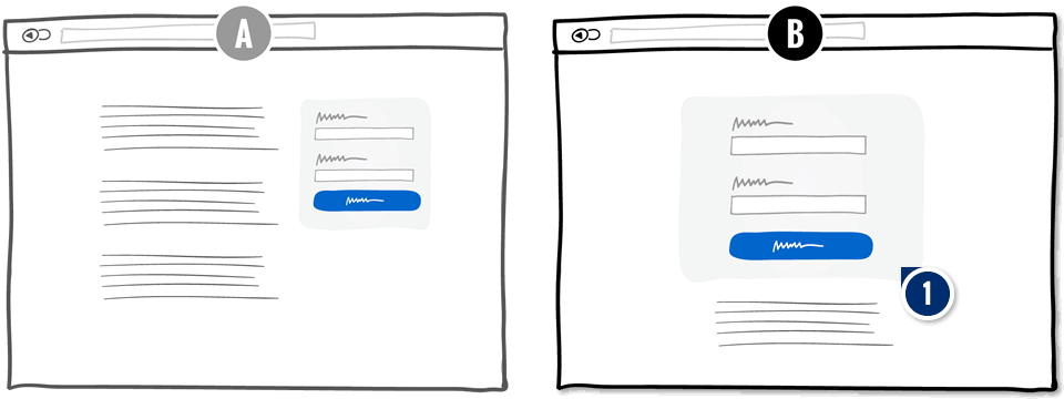 Centered Forms & Buttons