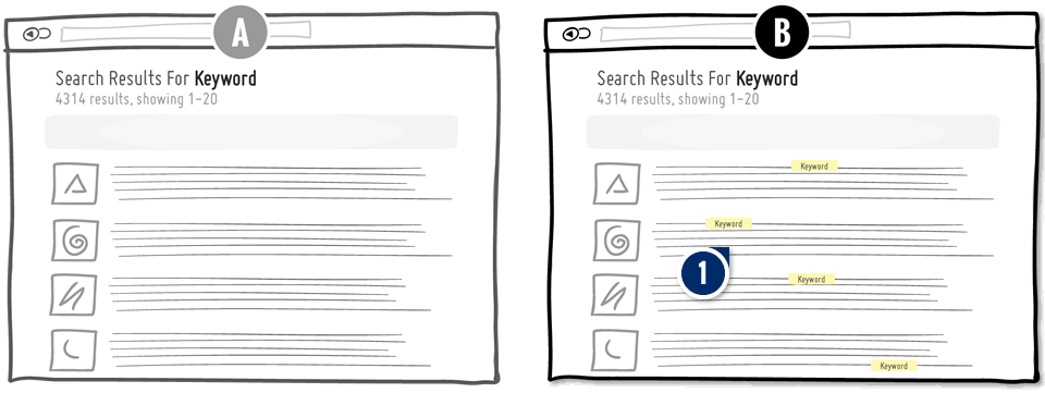 Search Keyword Highlighting