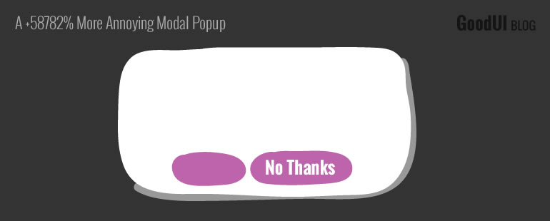 How Annoying Can A Modal Window Get?